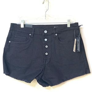 Blank NYC Black Denim Vintage High Rise Shorts